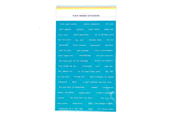 Citrus Twist Pleasant Valley Turquoise Tiny Word Stickers
