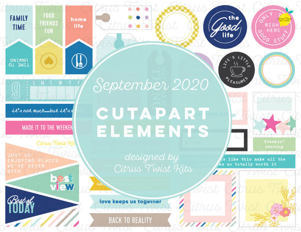 Printable - THE BEST PARTS Cutapart Elements - September 2020
