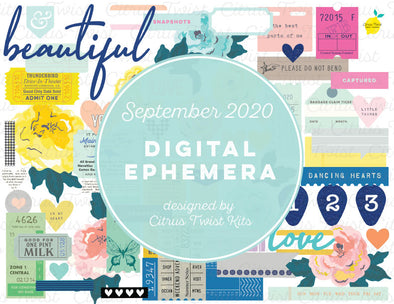 Printable - THE BEST PARTS Ephemera Elements - September 2020