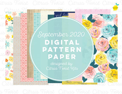 Digital - THE BEST PARTS Notebook Digital TN Pattern Papers - September 2020