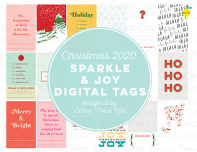 Sparkle & Joy Digital Tags - Christmas 2020