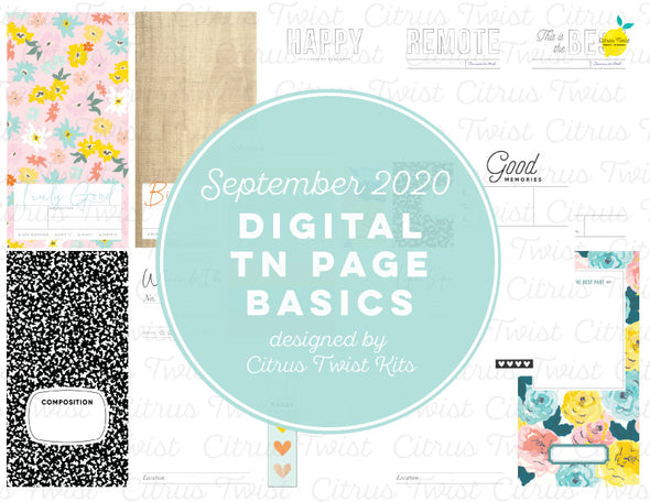 THE BEST PARTS Traveler's Notebook Basics Digital Papers - September 2020