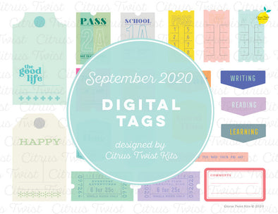 Printable - THE BEST PARTS Digital Tags - September 2020