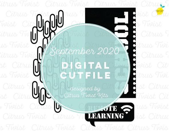 Cut file - SCHOOL IS BACK - September 2020
