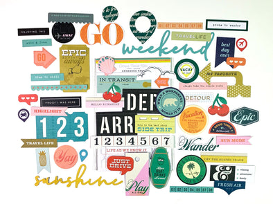 NEW! Citrus Twist TRAVELOGUE Cardstock Ephemera