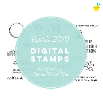"This is Life ""Daily Grind"" Digital Stamp Set - April 2019"