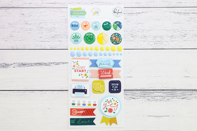 Pinkfresh Office Hours Mixed Embellishment Pack
