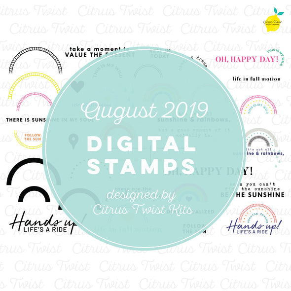 "This is Life ""Chasing Rainbows"" Digital Stamp Set - August 2019"