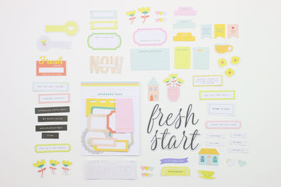 Citrus Twist Jan 2019 Fresh Starts Die-Cut Cardstock Ephemera