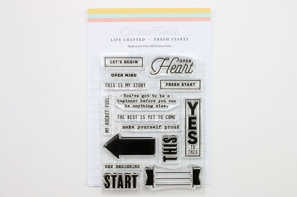 "January 2019 Life Crafted ""Fresh Starts"" Stamp"