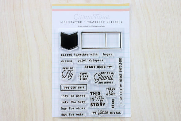 January 2019 Life Crafted Travelers Notebook Stamp Single