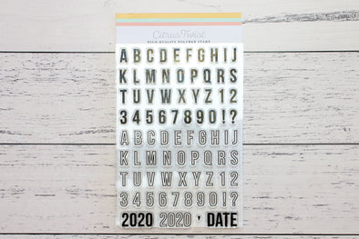 "Citrus Twist 4"" x 6"" Solid & Outline Alphabet & Number Stamp"