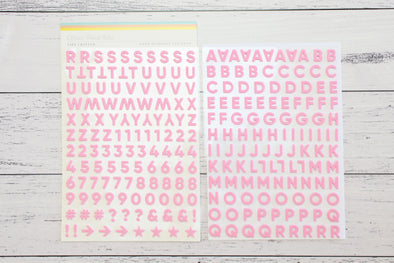 Citrus Twist Fierce & Fabulous Bubblegum Pink Foam Alphabet