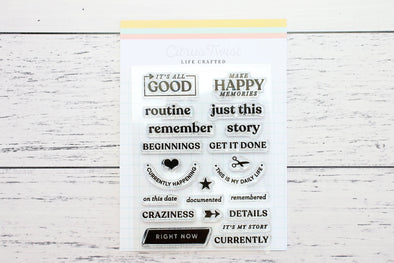 January 2020 Life Crafted Travelers Notebook Stamp, Single