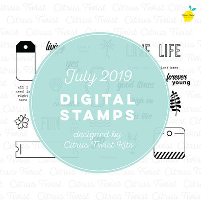 "This is Life ""Chasing Curiosities"" Digital Stamp Set - July 2019"