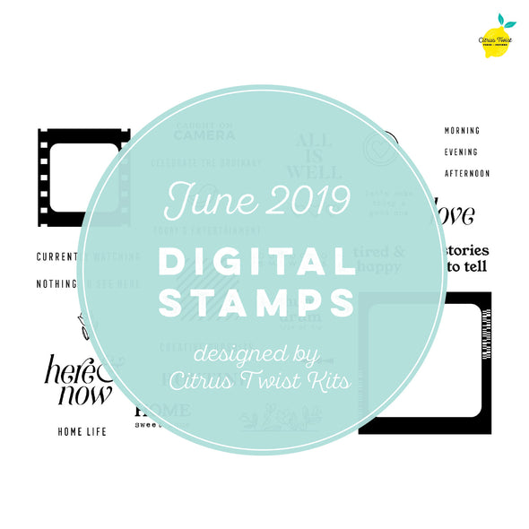 "This is Life ""Routine"" Digital Stamp Set - June 2019"