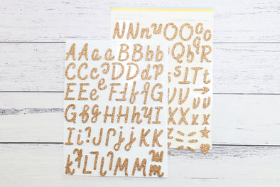 "Citrus Twist November 2019 ""Gratitude"" Copper-Gold Glitter Foam Alphabet Stickers"
