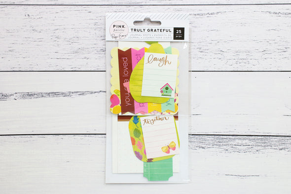 Pink Paislee Truly Grateful Journal Spots by Paige Taylor Evans