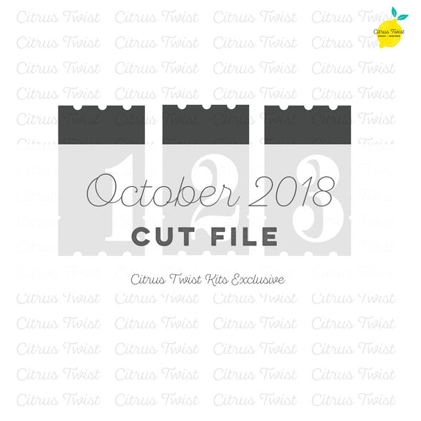 Cut file - 1-2-3 - October 2018