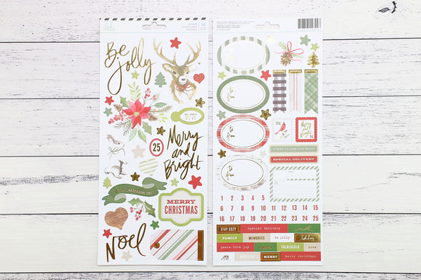 "Heidi Swapp 6"" x 12"" Winter Wonderland Accent Stickers"