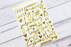 "Citrus Twist October 2019 ""At My Table"" Gold Puffy Words & Icons Stickers"
