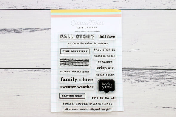 October 2019 Life Crafted Travelers Notebook Stamp, Single