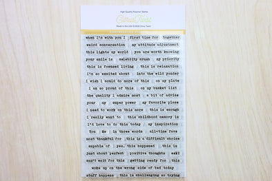 "SALE: Citrus Twist ""Conversation Starters v2"" Stamp"