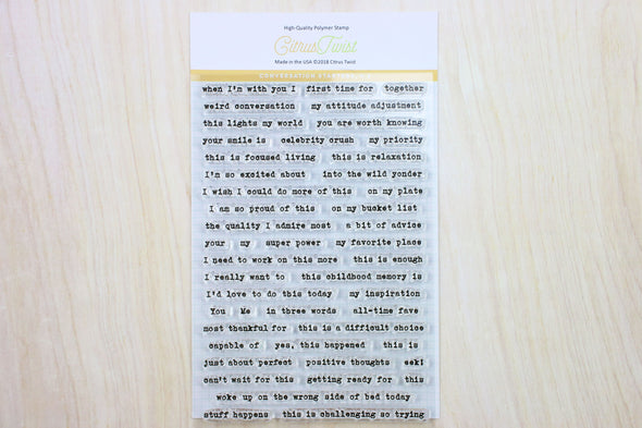 "Citrus Twist ""Conversation Starters v2"" Stamp"