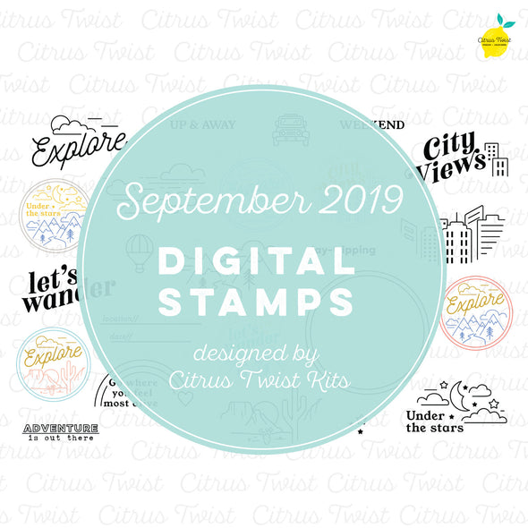 "This is Life ""Explore"" Digital Stamp Set - September 2019"