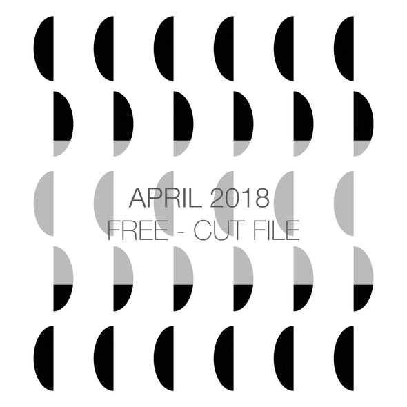 Cut File - Circle Background - FREE - April 2018