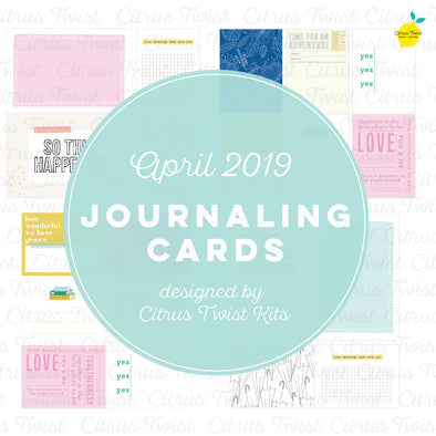 "Life Crafted ""Make It a Venti"" Journaling Cards - April 2019"