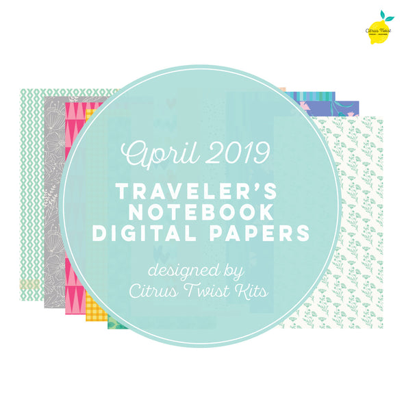 Make It a Venti Traveler's Notebook Digital Papers - April 2019
