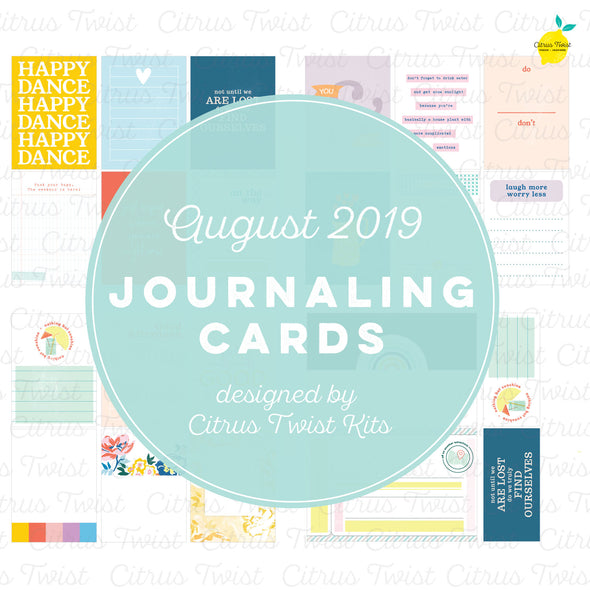 "Life Crafted ""Chasing Rainbows"" Journaling Cards - August 2019"