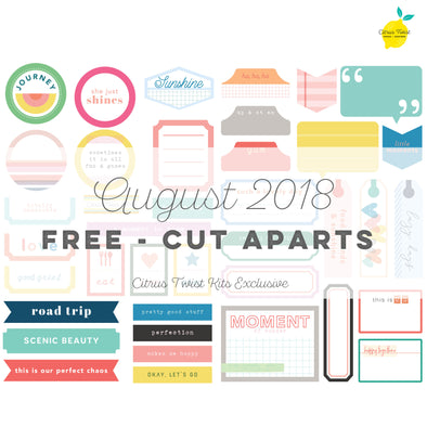 Perfectly Posh Cut Aparts - FREE - August 2018