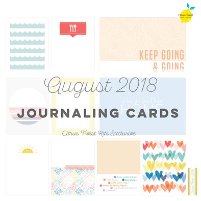 Perfectly Posh Journaling Cards - August 2018