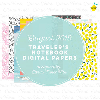 Chasing Rainbows Notebook Digital Papers - August 2019