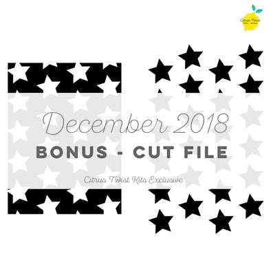 Cut file - BONUS - Stars- December 2018