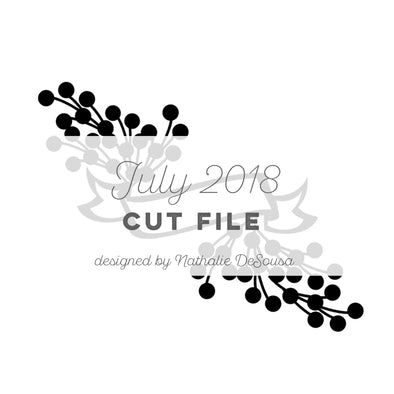 Cut File - FREE - Banner - July 2018 (designed by Nathalie DeSousa)