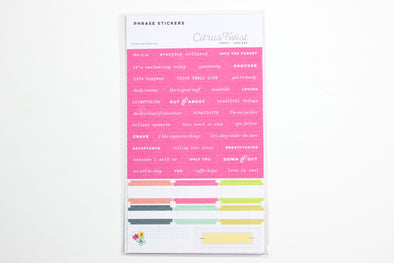 SALE: Citrus Twist Cedar Grove Tiny Word Stickers