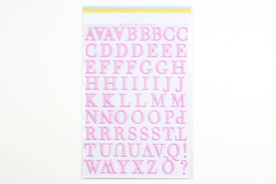 Citrus Twist Cotton Candy Pink Puffy Alphabet