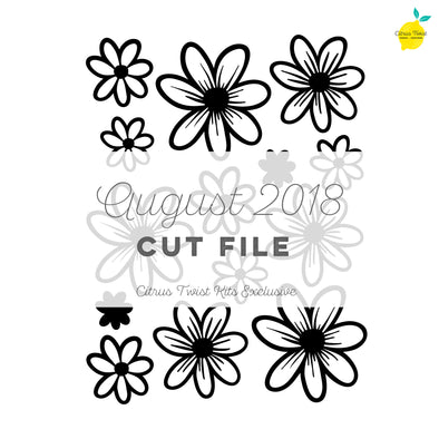 Cut File - Daisy Cut file - August 2018