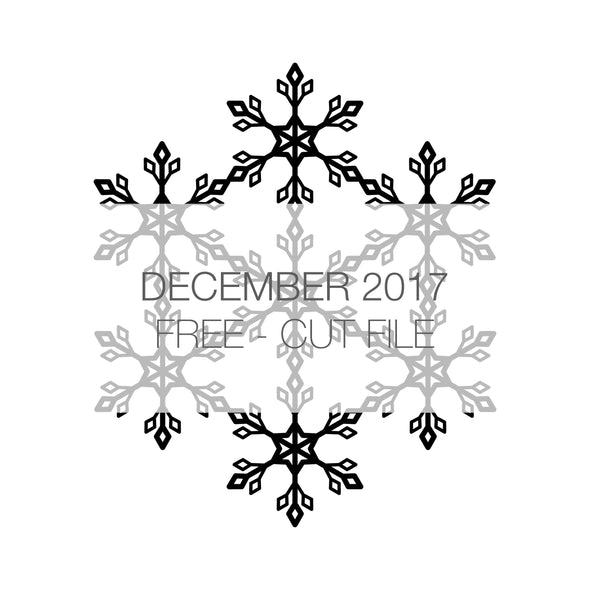 Cut File - Snowflake - FREE - December 2017