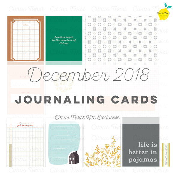 Pleasant Valley Journaling Cards - December 2018