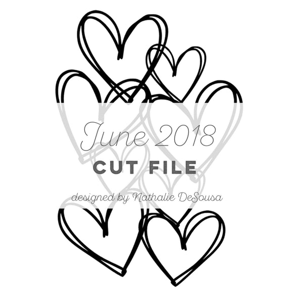 Cut File - Doodle Hearts - June 2018 (designed by Nathalie DeSousa)