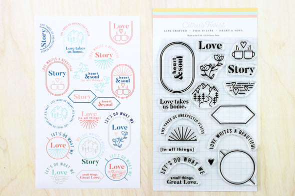 "February 2019 This Is Life ""Heart & Soul"" Stamp"