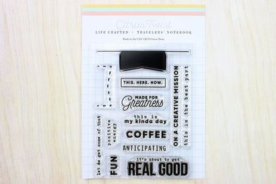 February 2019 Life Crafted Travelers Notebook Stamp, Single