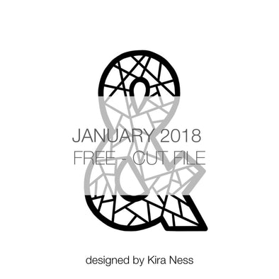 Cut File - Geometric Ampersand - FREE - January 2018 (designed by Kira Ness)