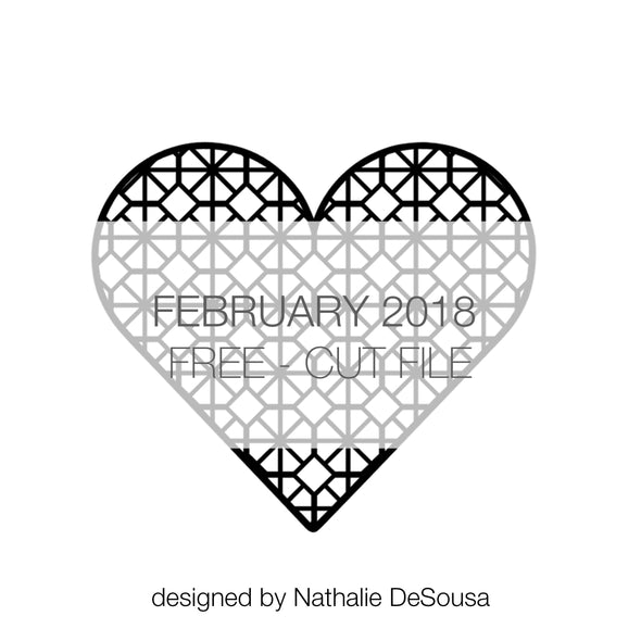 Cut File - Hexagonal Heart - FREE - February 2018 (designed by Nathalie DeSousa)