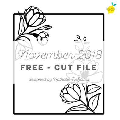 Cut file - FREE - Floral Frame - November 2018