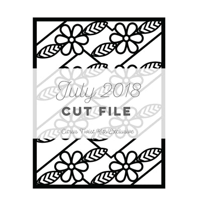 Cut File - Floral Screen - July 2018